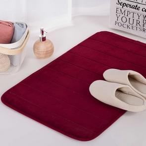 Non Slip Water Absorption Rug Bathroom Mat Shaggy Memory Foam Kitchen Door Floor Mat, Size:50X80CM(Red)