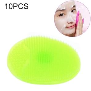 10 PCS Cleaning Pad Wash Face Facial Exfoliating Brush SPA Skin Scrub Cleanser Tool(Green)