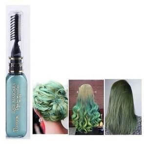 Eenmalige haar tijdelijke kleur Haarverf niet-toxisch DIY haarkleur mascara Dye crème haar (groen)