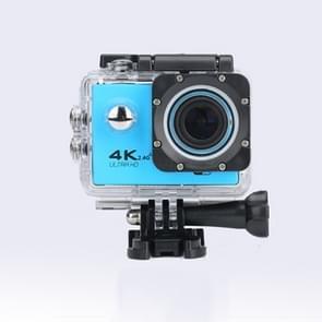 WIFI Waterproof Action Camera Cycling 4K camera Ultra Diving  60PFS kamera Helmet bicycle Cam underwater Sports 1080P Camera(Blue)