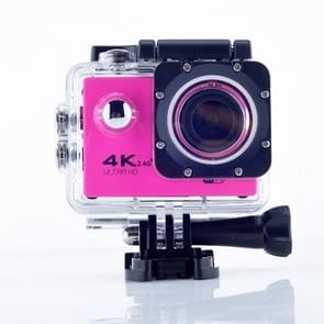 WIFI Waterproof Action Camera Cycling 4K camera Ultra Diving  60PFS kamera Helmet bicycle Cam underwater Sports 1080P Camera(Pink)