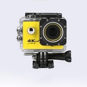 WIFI Waterproof Action Camera Cycling 4K camera Ultra Diving  60PFS kamera Helmet bicycle Cam underwater Sports 1080P Camera(Yellow)