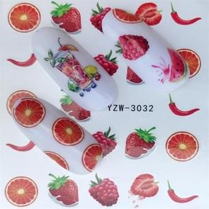 5 PCS Water Transfer Stickers Decals Flower Stickers for Nails, Color:YZW-3032