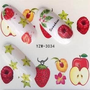 5 PCS Water Transfer Stickers Decals Flower Stickers for Nails, Color:YZW-3034
