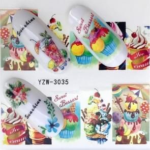 5 pc's Water overdracht Stickers Decals bloem Stickers voor nagels  kleur: YZW-3035