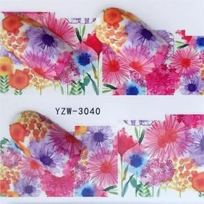 5 PCS Water Transfer Stickers Decals Flower Stickers for Nails, Color:YZW-3040