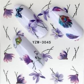 5 PCS Water Transfer Stickers Decals Flower Stickers for Nails, Color:YZW-3045