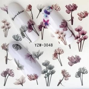 5 PCS Water Transfer Stickers Decals Flower Stickers for Nails, Color:YZW-3048