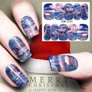 3 PCS Nail Sticker Set Decal Water Transfer Slider Nails Art Decoration, Color:YZW2142