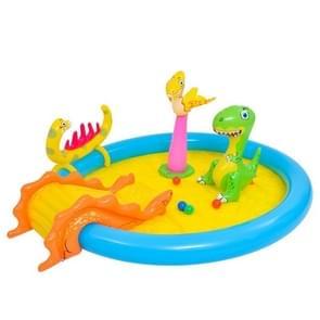 Home Grote Cartoon Animal Drama Zwembad Water Spray Opblaasbare Zwembad Slide Pool (Dinosaurus)