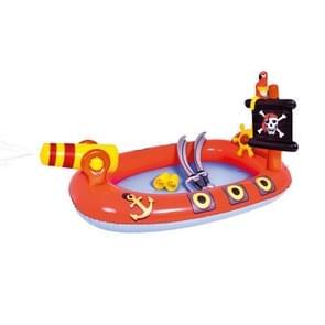 Home Grote Cartoon Animal Drama Zwembad Water Spray Opblaasbare Zwembad Slide Pool (Piraat)
