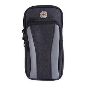 Oxford Cloth Waterproof Sports Running Fitness Polsarmband voor smartphones 6 inch (Zwart)