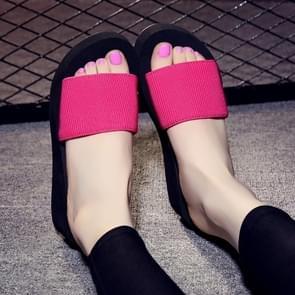 Non-slip High Heel Slipper Summer Beach Sandals Slip for Women, Shoe Size:37(Red)