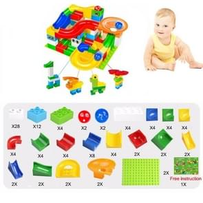 Big Size Maze Ball Track Building Blocks Plastic Funnel Slide Kits for Children Gift(104PCS)