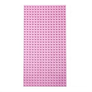 3 PCS 16*32 Small Particle DIY Building Block Bottom Plate 25.6 x 12.8cm Building Block Wall Accessories Toys for Children(Pink)