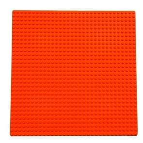 32*32 Small Particle DIY Building Block Bottom Plate 25.5*25.5 cm Building Block Wall Accessories Toys for Children(Orange)