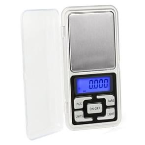 Mini Pocket Digital Scale Silver Jewelry Balance Gram Electronic Scales English 500g/0.01g