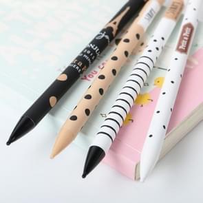 4 PCS 0.5mm Cute Plastic Mechanisch Potlood Mooie Stippen Automatische Pen Kids Briefpapier