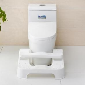 Children Plastic Toilet Seat Stool Squatting Toilet Anti-Constipation Artifact(White)