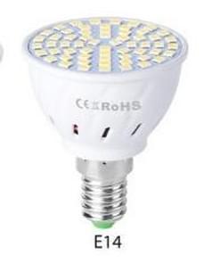 LED concentreren plastic lamp Cup huishoudelijke energiebesparende Spotlight  wattage: 9W E14 80 LEDs (warmwit)