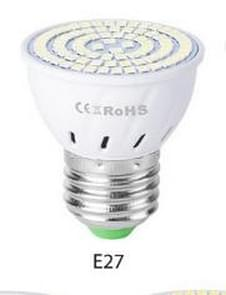 LED Concentrating Plastic Lamp Cup Household Energy-saving Spotlight, Wattage:5W E27 48 LEDs Warm White(Warm White)