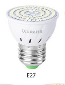 LED concentratie plastic lamp Cup huishoudelijke energiebesparings spot  wattage: 7W E27 60 LEDs (warmwit)