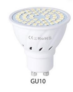 LED Concentrating Plastic Lamp Cup Household Energy-saving Spotlight, Wattage:7W GU10 60 LEDs(Warm White)