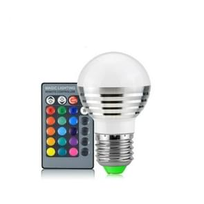 3W RGB LED lamp 16 Color Magic Night lamp dimbaar Podiumlicht met 24-toetsen afstandsbediening E27