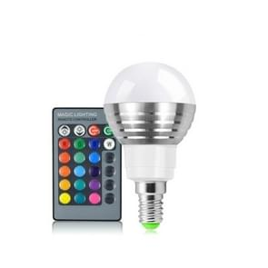 3W RGB LED lamp 16 Color Magic Night lamp dimbaar Podiumlicht met 24-toetsen afstandsbediening E14