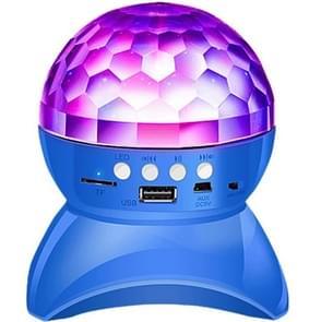 Draadloze Bluetooth Speaker 360 graden roterende Crystal Magic Ball Lights kleurrijke stage lichten  ondersteuning 32GB TF Card & AUX(Blauw)