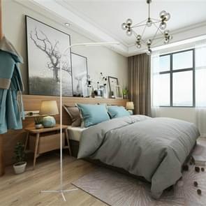 Moderne touch 12 niveaus verstelbare LED staande vloer lamp woonkamer slaapkamer leeslampje met afstandsbediening (wit)