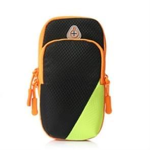 6 inch Sports Running Mobile Phone Arm Band Sport Arm Bag (Zwart)