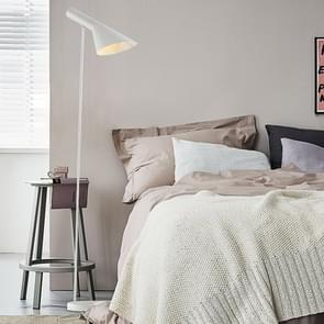 Simple Cafe Bedroom Sofa Hotel Apartment LED Floor Lamp(White)