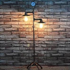 Retro smeedijzeren pipe lichte vloer lamp creatieve huis decoratie licht zonder bollen