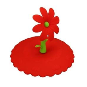 2 PCS Super Cute Sunflower Shape Reusable Silicone Cover Splicing Thermal Insulation Cover(Red)