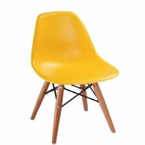 Kinderen mode kunststof armleuning houten stoel opvouwbare stoel (geel)