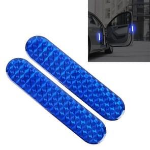 2 PCS High-brightness Laser Reflective Strip Warning Tape Decal Car Reflective Stickers Safety Mark(Blue)