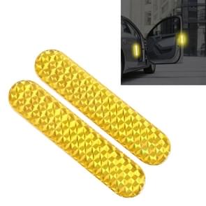 2 PCS High-brightness Laser Reflective Strip Warning Tape Decal Car Reflective Stickers Safety Mark(Yellow)