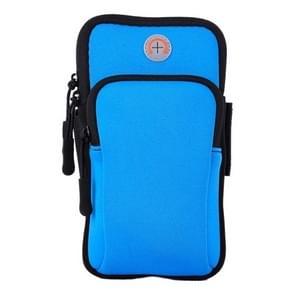 Sport Armband Waterproof Phone Holder Case Bag for 4-6 inch Phones(Blue)
