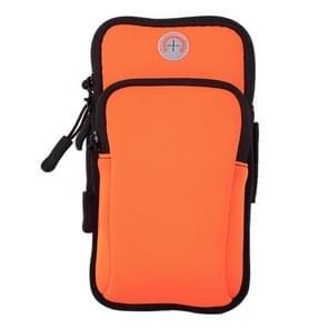 Sport Armband Waterproof Phone Holder Case Bag for 4-6 inch Phones(Orange)