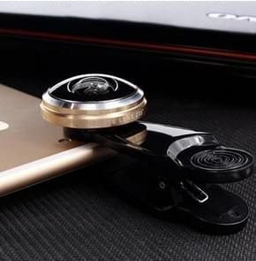 Super Fisheye Acrylic Lens Mobile Phone Universal Self-timer Special Effect Lens Mobile Phone External Lens(Gold)