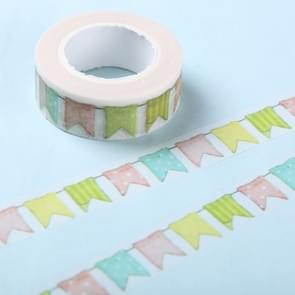 10 stuks kleur vlag papier tape DIY decoratie scrapbooking planner masking tape zelfklevende tape kawaii briefpapier