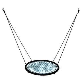 Children Nest Swing Indoor and Outdoor Hanger Children Stout Net Rope Swing Toys(Blue)
