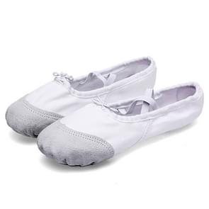 2 Pairs Flats Soft Ballet Shoes Latin Yoga Dance Sport Shoes for Children & Adult, Shoe Size:38(White)