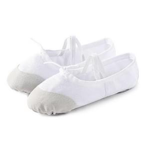 2 Pairs Flats Soft Ballet Shoes Latin Yoga Dance Sport Shoes for Children & Adult, Shoe Size:42(White)