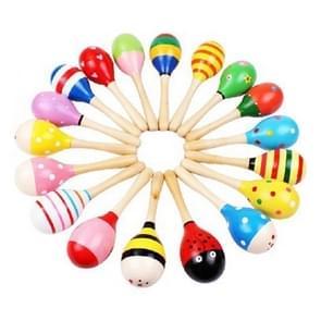 3 stuks kleurrijke houten baby kind muziek instrument rammelaar Shaker partij kinderen geschenk speelgoed (kleur random)