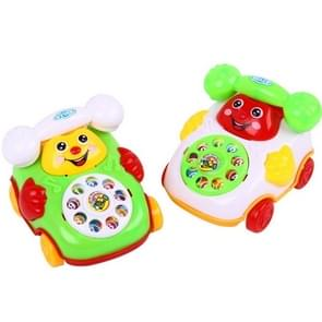 2 PCS Cartoon Creative Simulation Brake Cable Telephone Children Toy, Random Color and Style Delivery