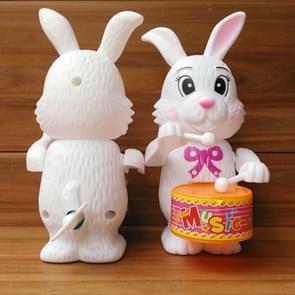 3 PC'S leuke cartoon kronkelende konijn Drum speelgoed kinderen verjaardagsgift  willekeurige kleur levering