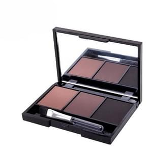 Professional Kit Long Lasting Eyebrow Powder Shadow Palette,With Soft Brush And Mirror(3)