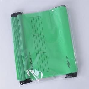 12 PCS Office A4 Size Reinforced Hanging Clip Plastic Folder(Green)